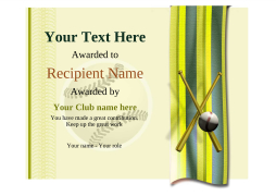 blank baseball awards certificate template with ribbon Image