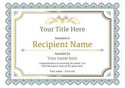 Award template sogol award template yadclub Choice Image