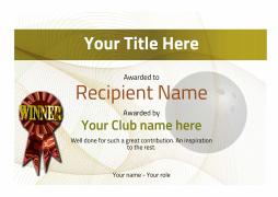 Bowling awards certificate winner templateg yadclub Images