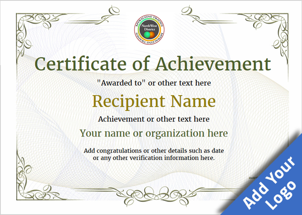 Nice Certificate Of Achievement Template Award Classic Style 2  Within Free Certificate Of Achievement