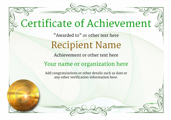 Certificate Of Achievement Template Award Classic Style 2   Certificate Of Achievement Template