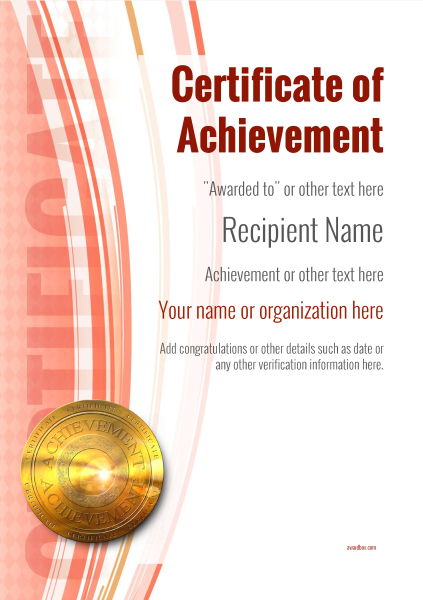 Certificate Of Achievement Template Award Modern Style 1   Certificates Of Achievement Free Templates