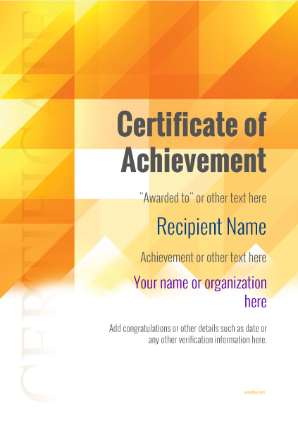 certificate-of-achievement-template-award-modern-style-2-default-blank Image