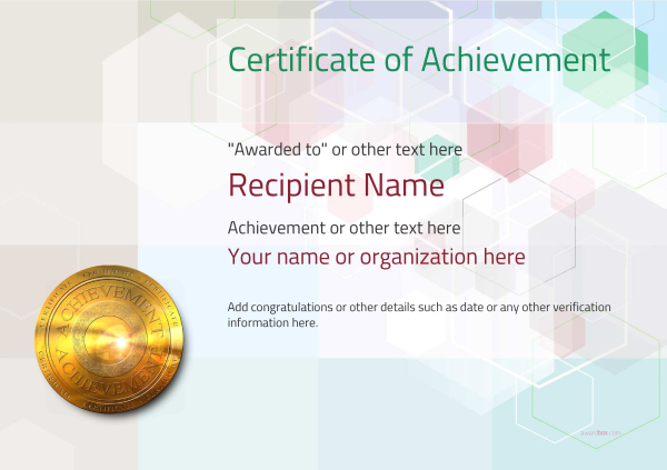 certificate-of-achievement-template-award-modern-style-5-default-medal Image