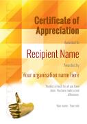 certificate of appreciation modern Image