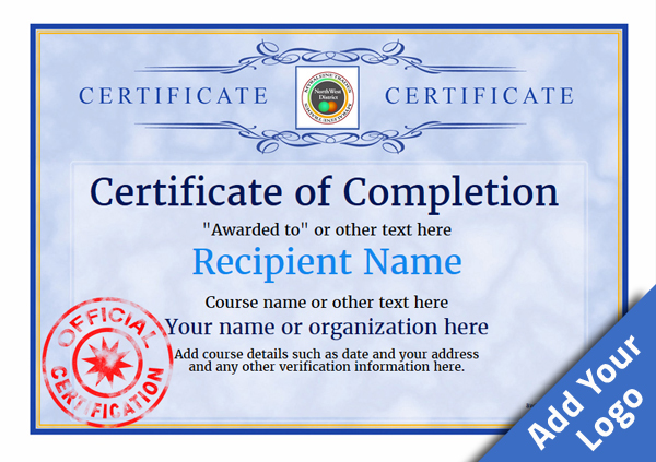Certificate of completion free quality printable templates certificate of completion template award classic style 1 yadclub Gallery