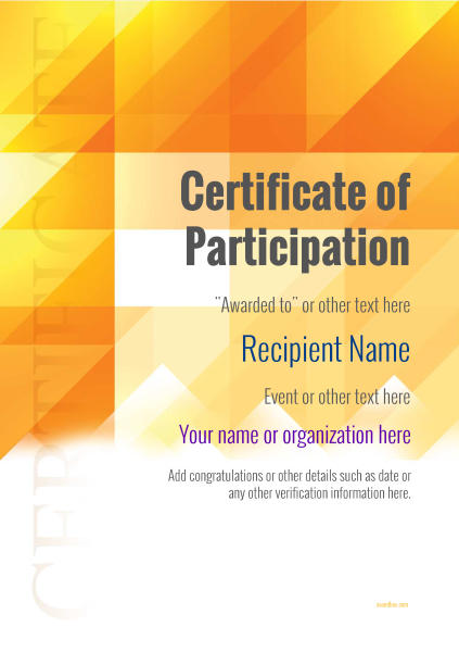 Certificate Of Participation Template Award Modern Style 2   Design Of Certificate Of Participation