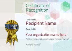 certificate of recognition winner Image