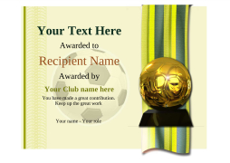 football certificate template award Image