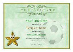 football certificates blank soccer template with star medal Image