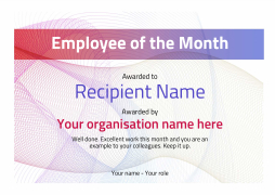 Employee of the month certificate free well designed templates modern3 defaultemployee blanks image pronofoot35fo Image collections