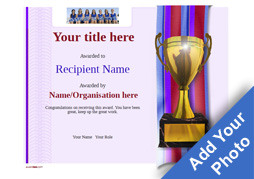 Free certificate templates simple to use add printable badges modern4 defaultblank trophy image yadclub Images