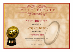 printable awards rugby certificate Image