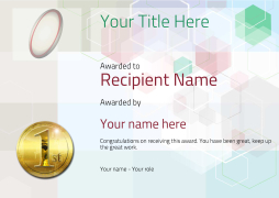 rugby certificate template award Image