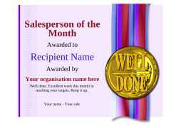 Salesperson of the month certificates free templates unlimited use salesperson of the month certificate award image yadclub Gallery