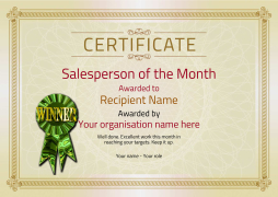 Salesperson of the month certificates free templates unlimited use salesperson of the month certificate winner image pronofoot35fo Image collections