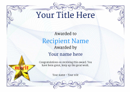 School Certificate Template Merit Image  Free Employee Of The Month Certificate Template