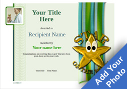 School Certificate Template Star Of The Week Image  Certificate Templates For Free
