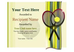 tennis certificate templates use awardbox free templates