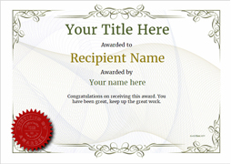 Attractive Free Certificate Templates And Awards Regarding Certificates Templates