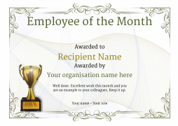 Employee of the Month Certificate - Free templates from Awardbox