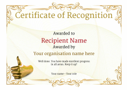 recognition certificate  Certificate of Recognition - Use free templates by Awardbox