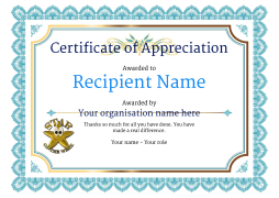 certficate of appreciation  Certificate of Appreciation and Thank You - Free and Simple to Use