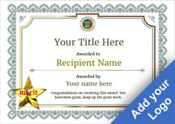 Free Certificate Templates And Awards  Free Customizable Printable Certificates Of Achievement