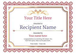 Free Certificate Templates And Awards  Free Editable Certificate Templates For Word