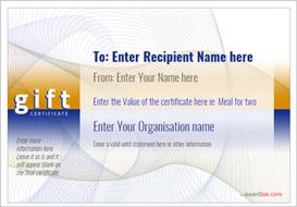 gift certificate template modern design 3 Image