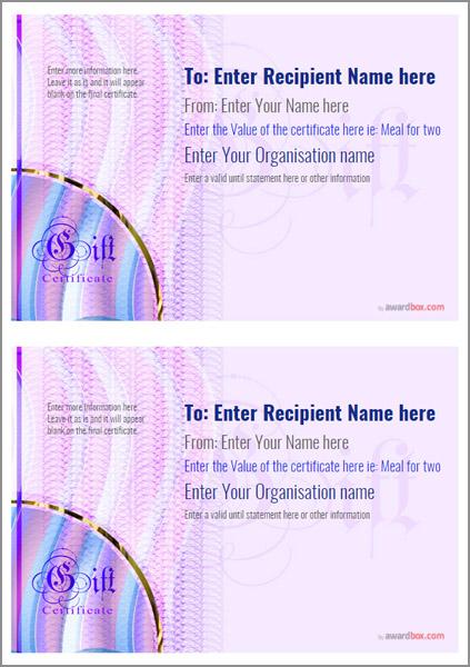 gift certificate template modern design 4 Image