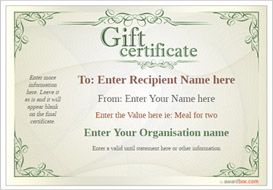 gift certificate template classic design 2 Image