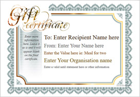 gift certificate template classic design 3 Image