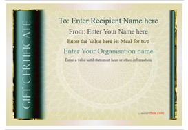 gift certificate template classic design 4 Image