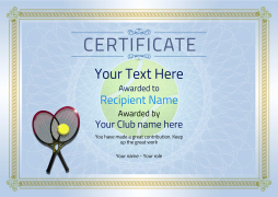Printable tennis awards certificate templateg yelopaper Gallery